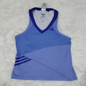 Adidas lavender all sports  top built in bra small
